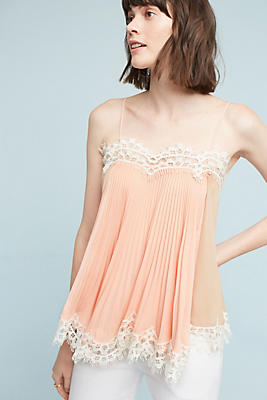Slide View: 1: Pleated Swing Cami