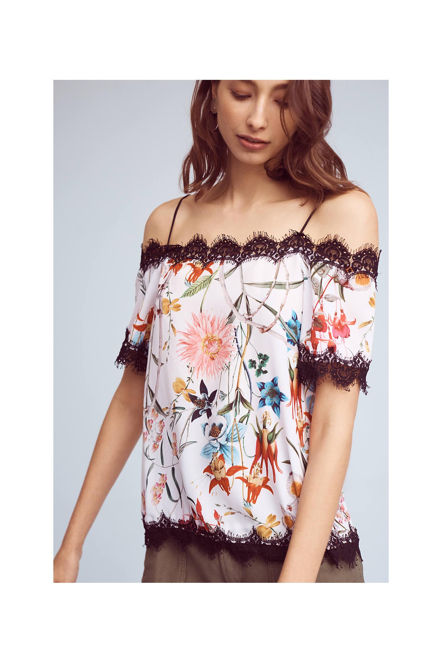 Floral Open-Shoulder Top