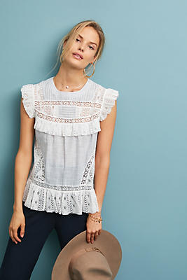 Slide View: 1: Frontier Lace Top