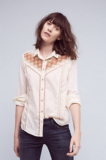 Embroidered Iverie Buttondown