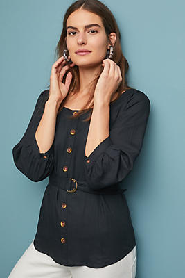 Slide View: 1: Alanis Belted Blouse