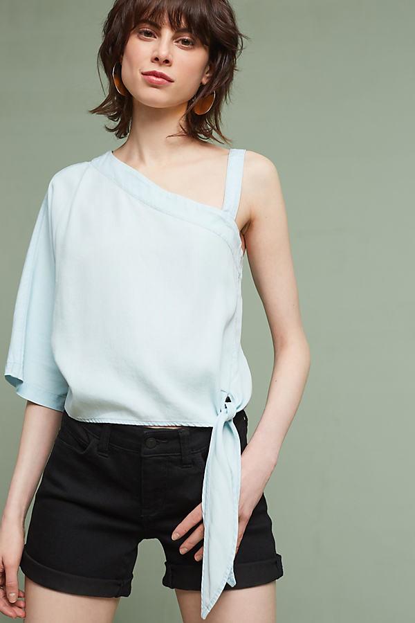 Maddie One-Shoulder Top, Blue - Denim Light, Size Xl