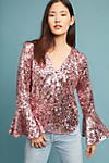 Thumbnail View 3: Sequined Bell-Sleeve Top