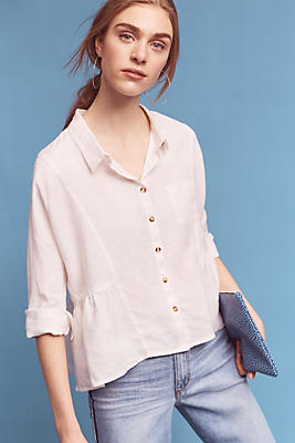 Slide View: 1: Washed Linen Shirt