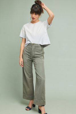 Amo Faded Gingham Cropped Top by Amo