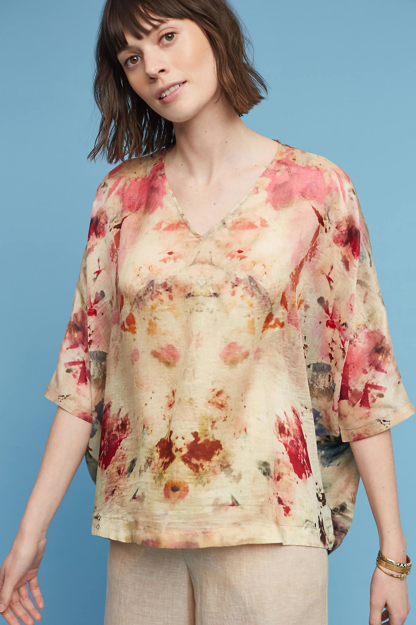 Silk Painterly Blouse