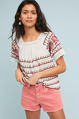 Slide View: 1: Kenitra Embroidered Blouse