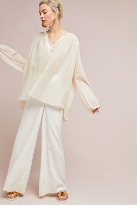 Oversized Henley Top by Aish