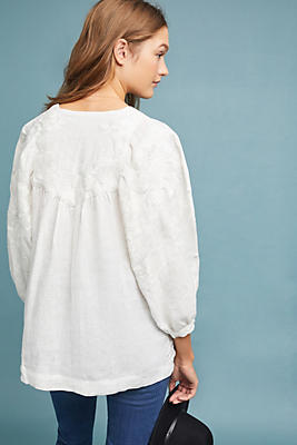 Linen Peasant Top by Caara