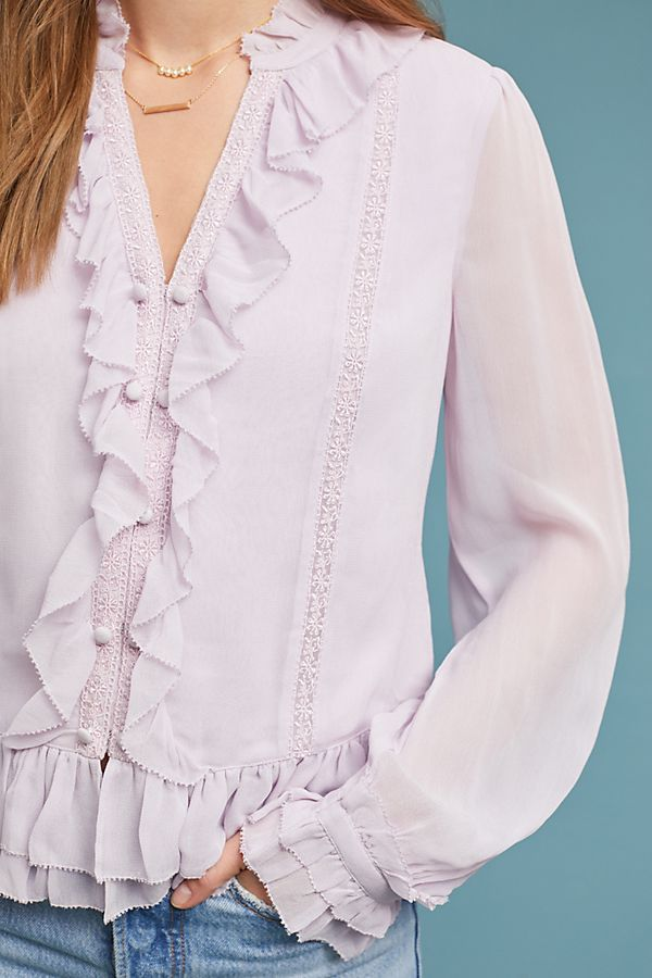 Slide View: 3: Layna Ruffled Buttondown