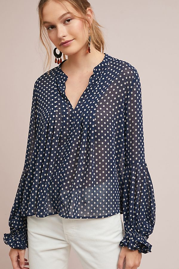 Extreem Bosworth Polka Dot Blouse | Anthropologie UK @NK31