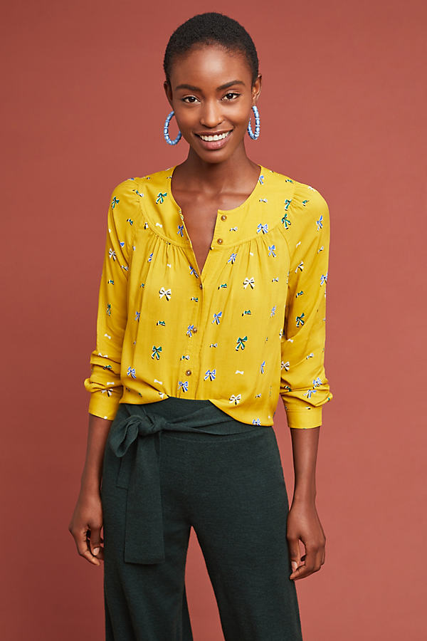 Colloquial Yoked Blouse - Assorted, Size Uk 14