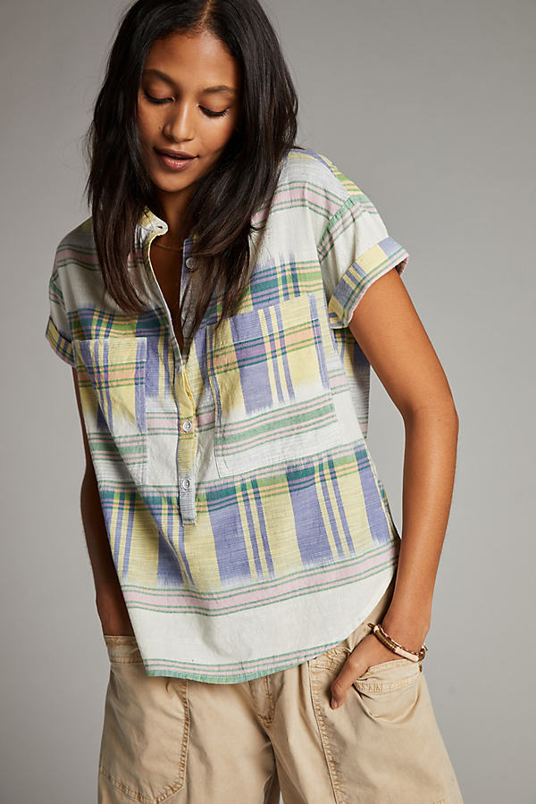 Pilcro Checked Short-Sleeve Shirt