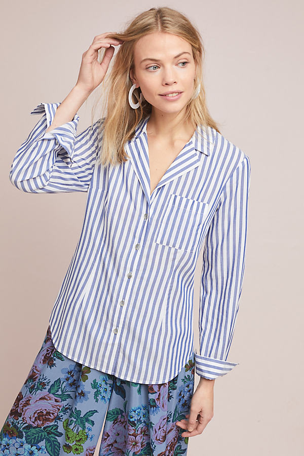 Pilcro Striped Buttondown Shirt - Assorted, Size Uk 12