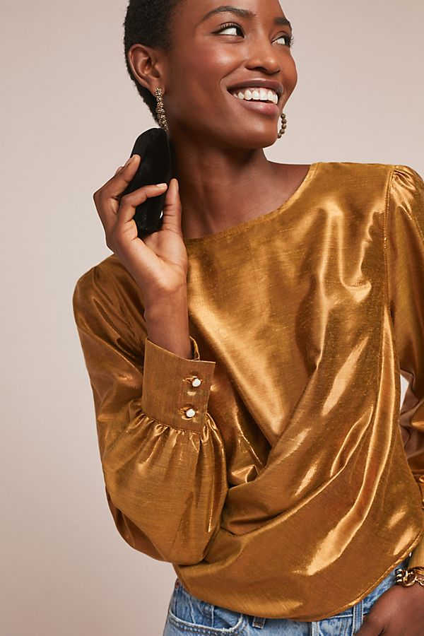 Slide View: 1: Elisa Metallic Top