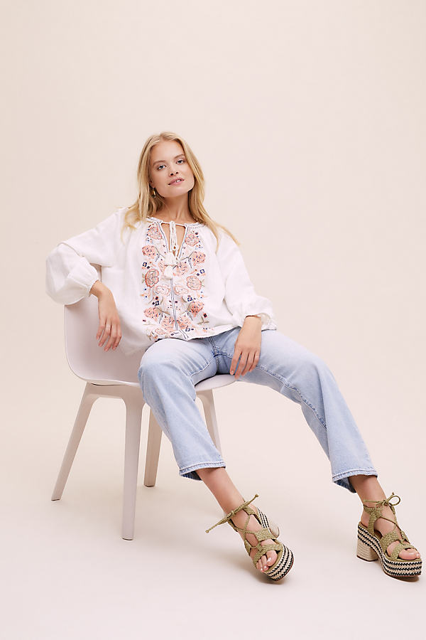M.A.B.E. Frankie Embroidered Blouse