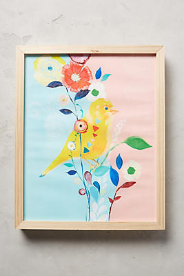 Anthropologie Wall Art canary wall art | anthropologie