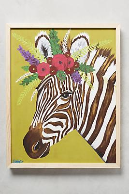 Slide View: 1: Zebra Wall Art