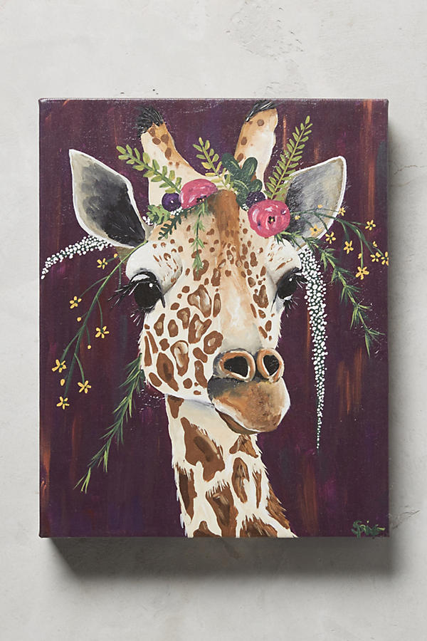 Slide View: 1: Giraffe Wall Art