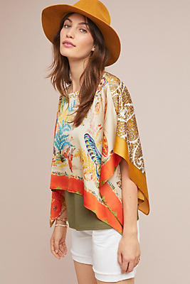 Slide View: 1: Chantel Scarf-Printed Top