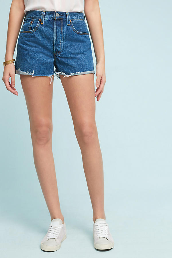 Slide View: 2: Levi's Wedgie Ultra High-Rise Selvedge Shorts