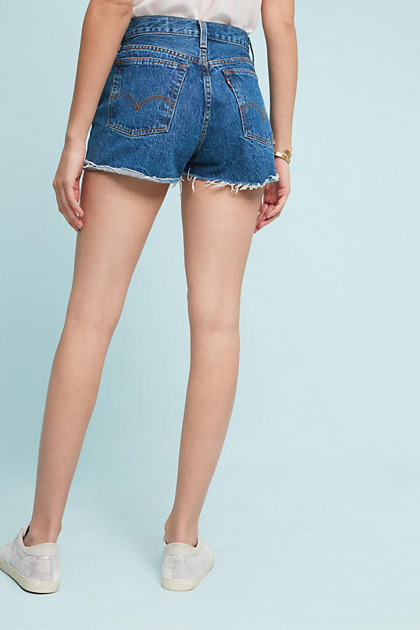 Slide View: 4: Levi's Wedgie Ultra High-Rise Selvedge Shorts