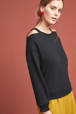 5f01993482292 CloudFleece V-Neck Top
