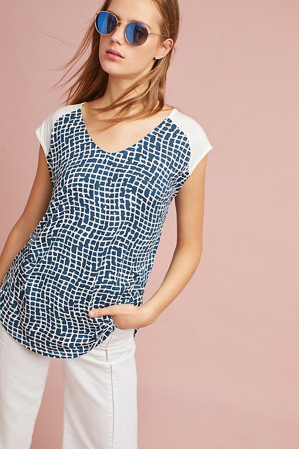 Sonya Printed Tunic - Blue Motif, Size M