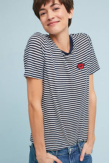 Patched Stripe Tee