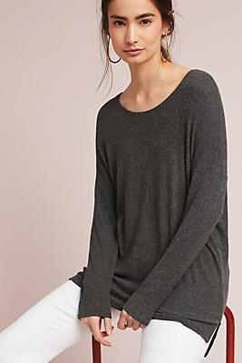 Slide View: 2: Ribbed Boat Neck Tunic