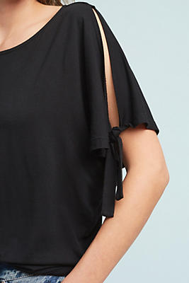 Slide View: 1: Rachelle Tie-Sleeve Top