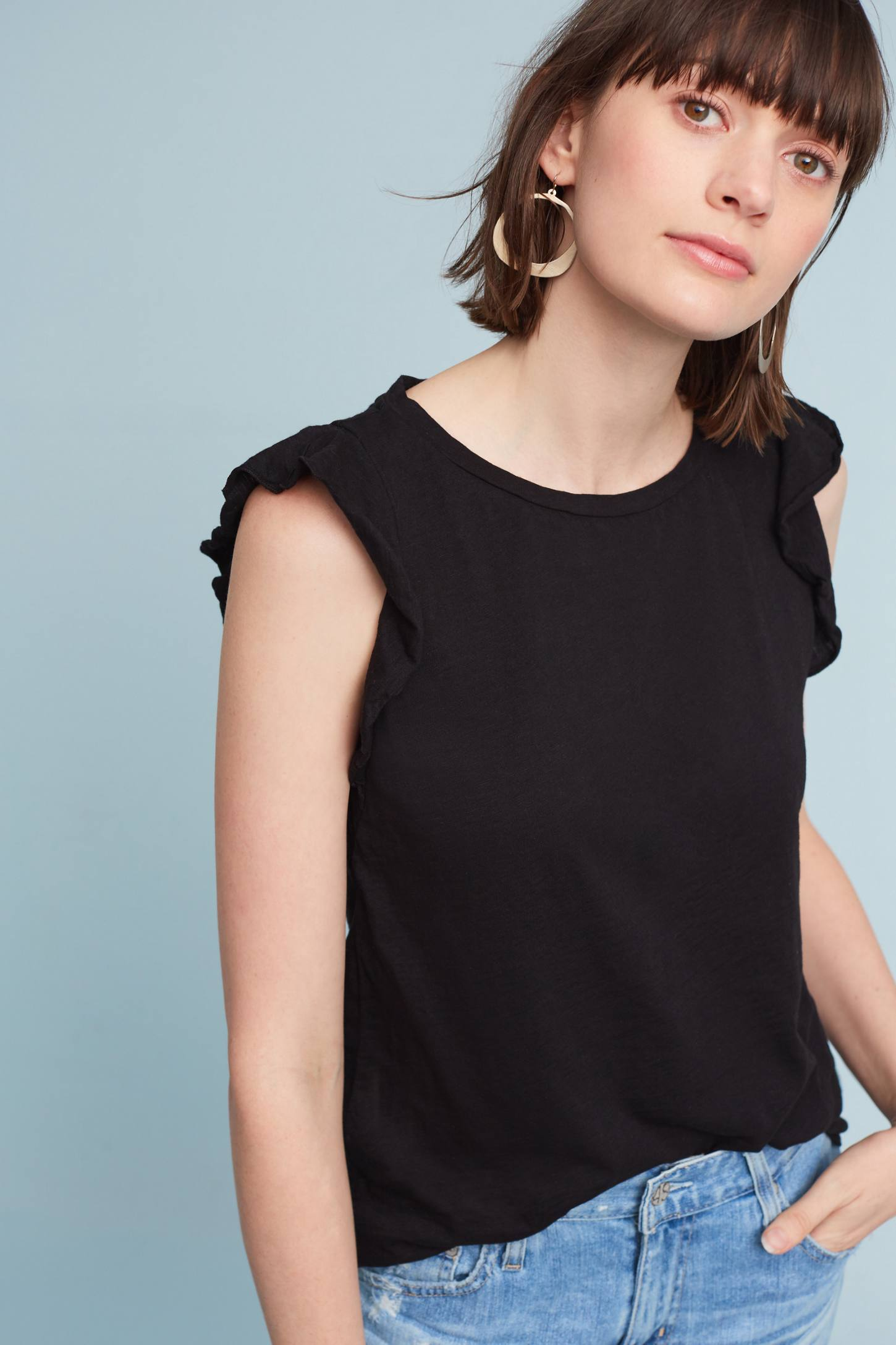 Slide View: 1: Marylou Ruffle Top