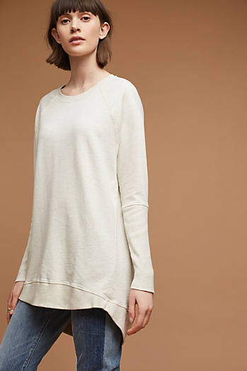 Crew Neck Tunic Sweatshirt