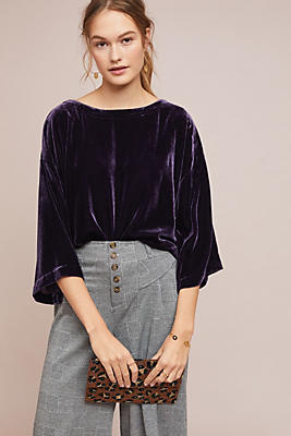 Slide View: 1: Romantic Velvet Top
