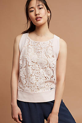 Slide View: 1: Amara Lace Tank Top