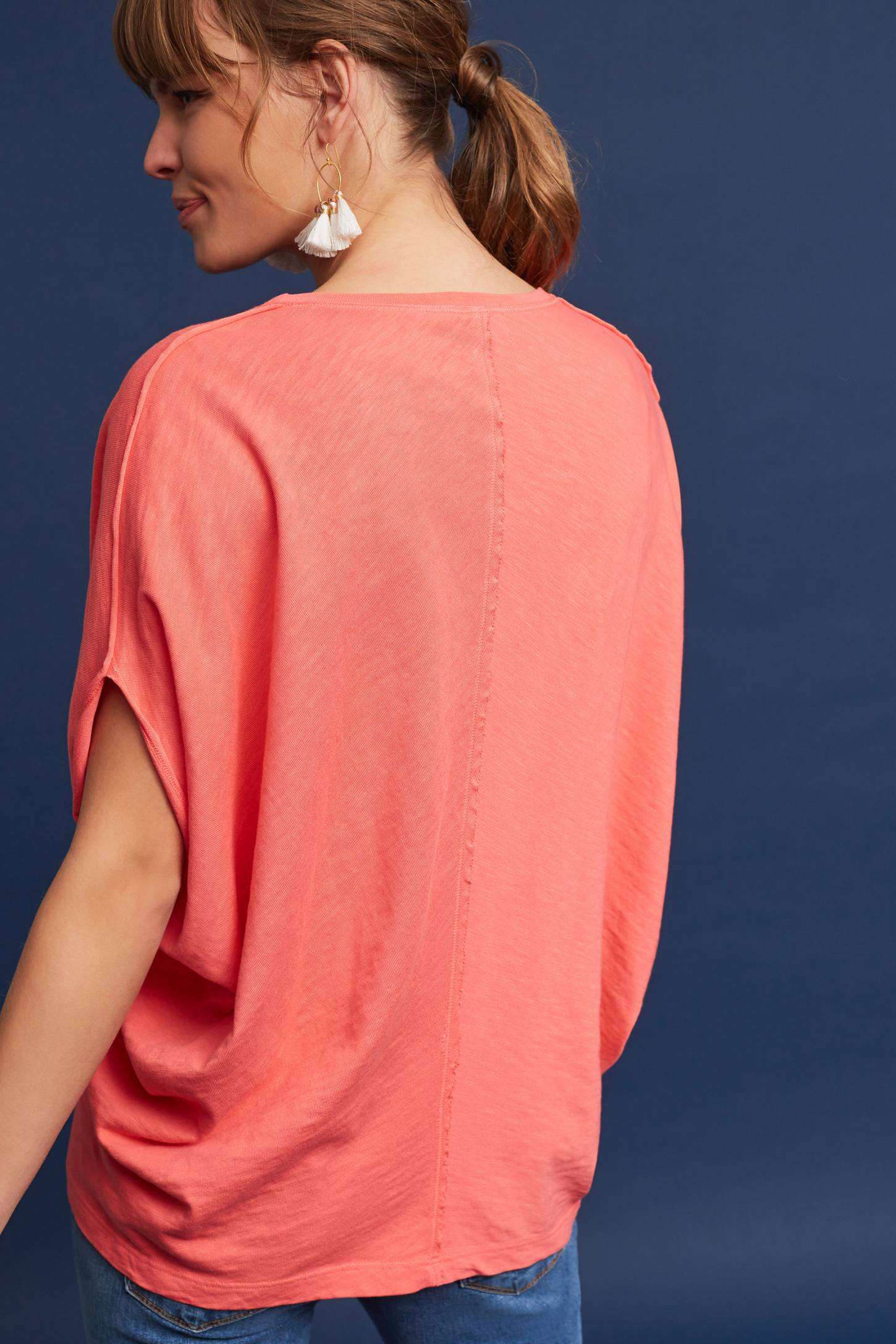 Slide View: 2: Noelie V-Neck Dolman Top
