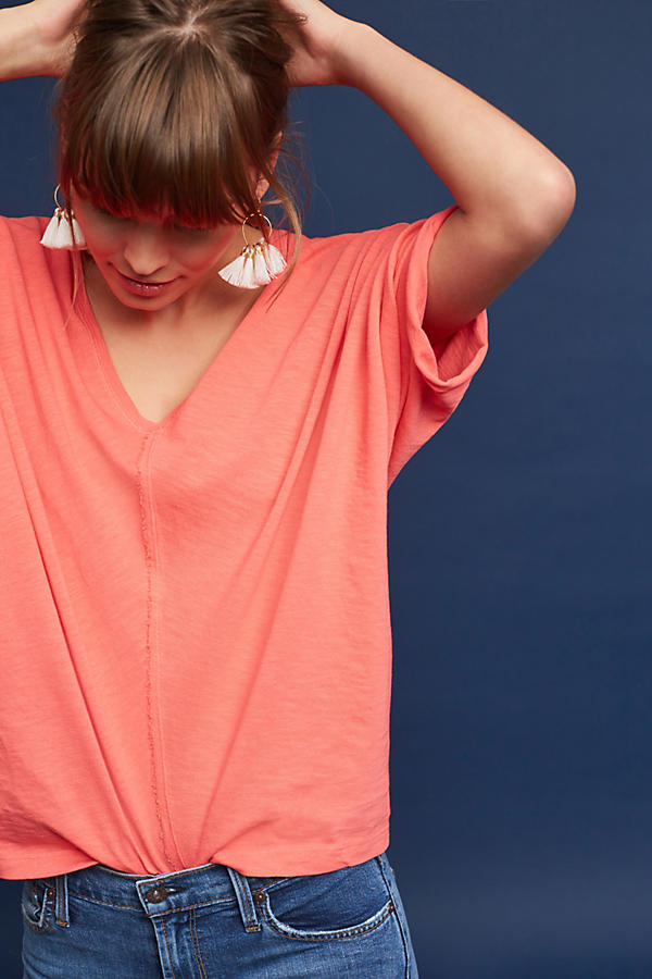 Slide View: 3: Noelie V-Neck Dolman Top