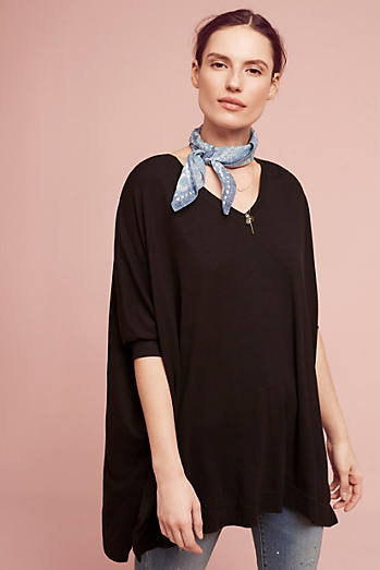 Jane Ribbed V-Neck Tunic