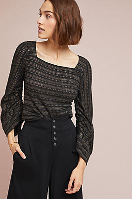 Slide View: 1: Berteau Striped Top