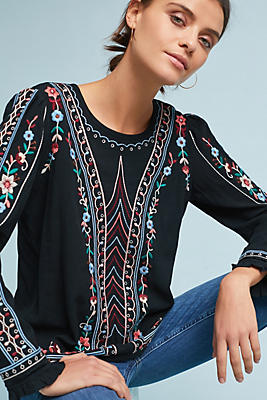 Slide View: 1: Wesley Embroidered Pullover