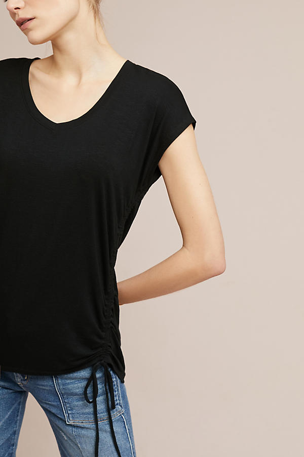 Slide View: 3: Side-Ruched Tee