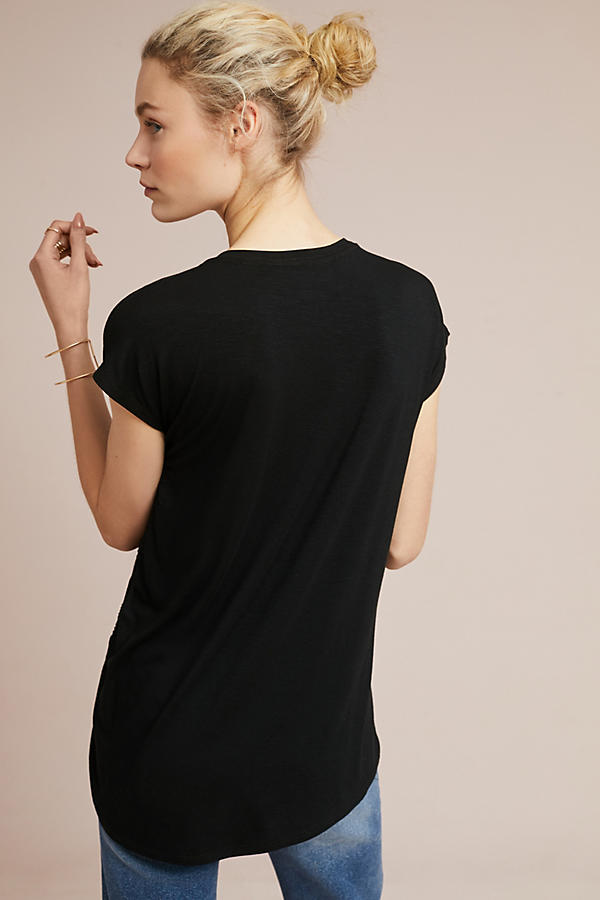 Slide View: 4: Side-Ruched Tee