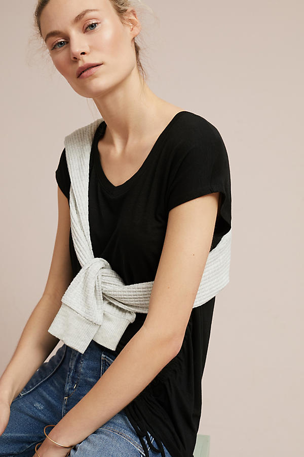 Slide View: 1: Side-Ruched Tee