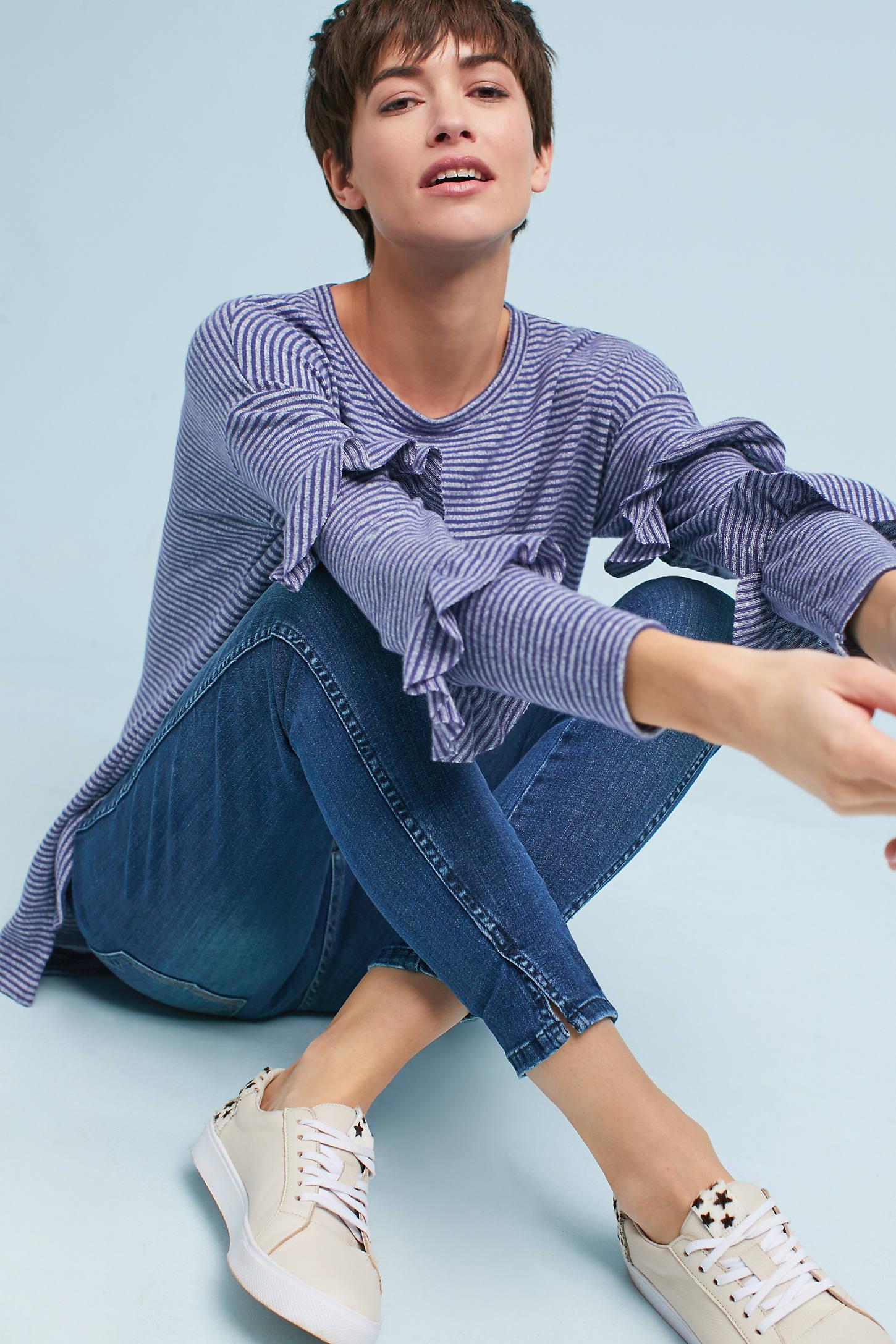 Cora Ruffle-Sleeve Pullover