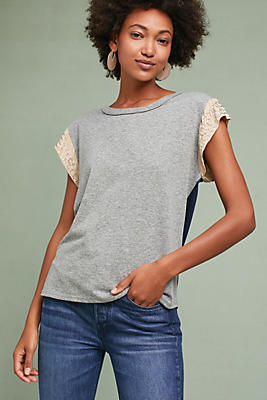 Slide View: 1: Beaded Sleeve Tee