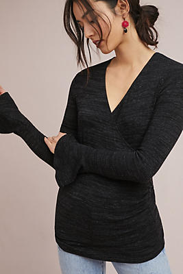 Slide View: 1: Ribbed Pullover