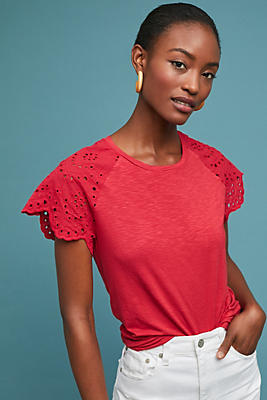 Slide View: 1: Beachbound Eyelet Top