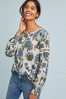 Slide View: 1: Tagawa Floral Sweatshirt
