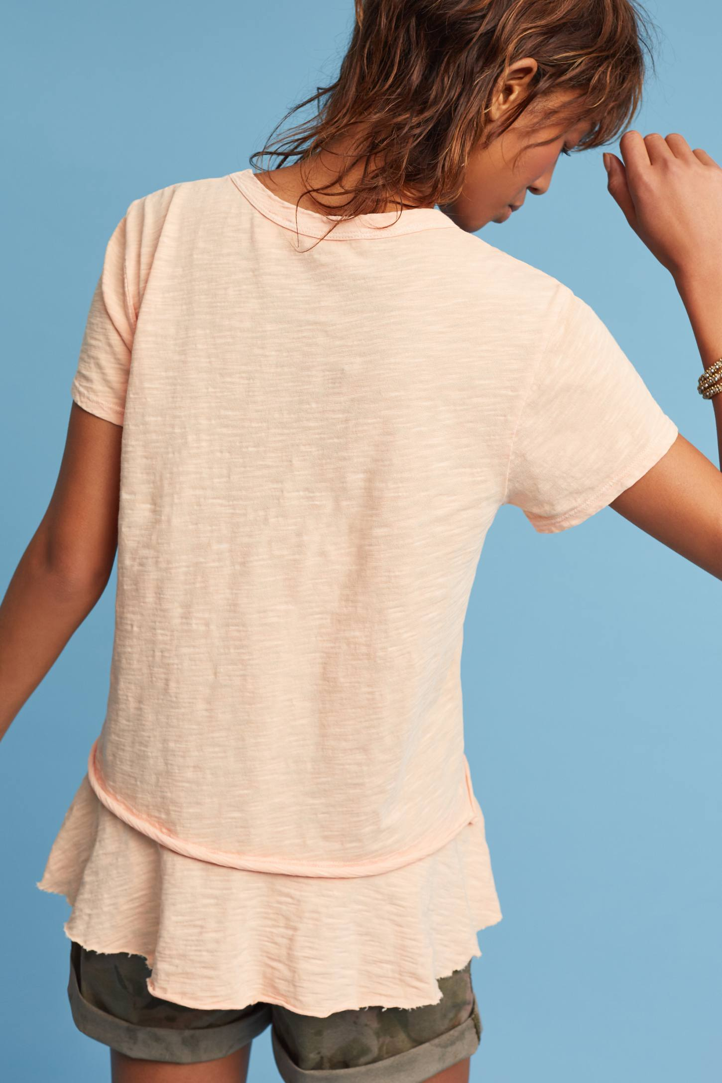 Slide View: 3: Layered Crew Neck Top