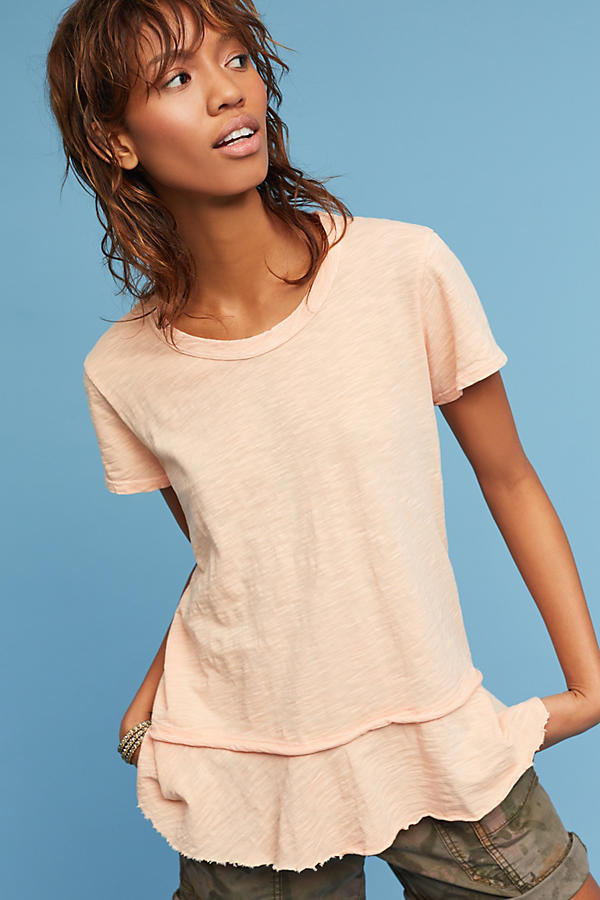 Slide View: 1: Layered Crew Neck Top